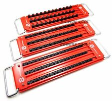 "Mechanics Time Saver Lock-A-Socket Tray Set 1/4, 3/8 & 1/2"" Drive w 3 Rows Each"