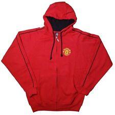 Manchester United FC Soccer Zip Front Fleece Jacket Sweatshirt Official S
