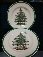 "Dinner Plate-Spode Christmas Tree-10 1/2"" S3324-Made in England 2 Units"