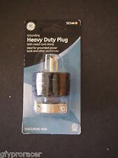 GE Grounding Heavy Duty Plug w/ Metal Cord Clamp 52146