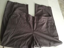 MOSSIMO TROUSER PINSTRIPED STRETCH CAREER  Cropped Capri Plus SIZE 22W