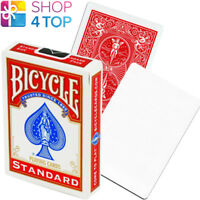 BICYCLE RIDER BACK NO FACE BLANK WHITE MAGIC TRICKS CARDS DECK USPCC RED NEW