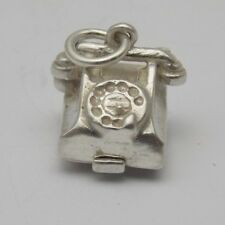 OPENING STERLING SILVER CHARM OF A 1950s TELEPHONE