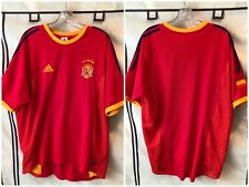 Spain 2002/04 Home Soccer Jersey Large Adidas Espana