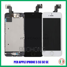 TOUCH SCREEN PER IPHONE 5 5S 5C SE + LCD DISPLAY COMPLETO SCHERMO +HOME BUTTON