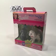 Mattel Barbie Animal Pet Lovin Dog Woof Puppy Twin Poodles Fuzzy New Breeds