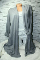 Italy Strickjacke Gr. 36 38 40 42 Strick Long Cardigan Jacke grau blogger NEU