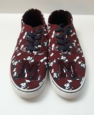 Disney Women's Mickey Mouse Burgundy Letterman Sneakers Shoes Size 11