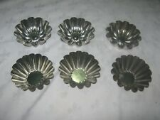 A Total of 6 German Etcetera Tin Jelly Tart Desert Molds in Two Styles