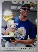1992-93 Upper Deck Team MVP #TM1 Michael Jordan Bulls, Rare Vintage MJ Insert!
