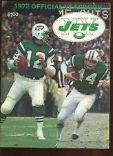 1972 NFL Football New York Jets Yearbook EXMT