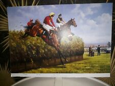 More details for red rum jumping becher's print