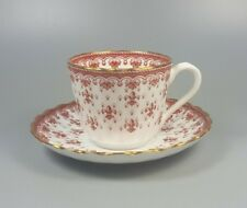 SPODE FLEUR DE LYS RED Y7481 SMALL TEA CUP AND SAUCER (PERFECT)