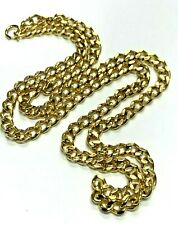 """Gold Tone 9mm Cuban Link Chain Necklace 36"""""""
