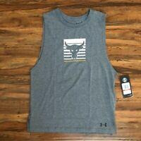 Under Armour Project Rock Tank Top Shirt Grey 1343439-019 Women's Size XS