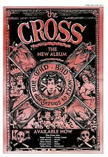 "NPBK16 ADVERT 15X11"" THE CROSS : MAD BAD AND DANGEROUS TO KNOW (ROGER TAYLOR)"
