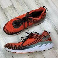 Hoka One One Clifton 5 Orange/Black Men's Size 12 Running Shoe