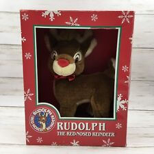 """Applause Rudolph the Red Nosed Reindeer 10"""" Plush Soft Toy Stuffed Animal"""