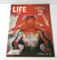 "VINTAGE LIFE MAGAZINE SEPTEMBER 9,1966 SPECIAL EDITION ""LSD ART"" ZIPPO FORD ADS"