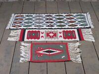 Konvolut 3 handgeknüpfte Teppich Wandteppich Tischläufer Wolle Orient Vintage