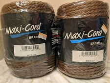 2 Macrame Maxi-Cord Brown B62 100 yds 6Mm Braided Polypropylene Craft Yarn New