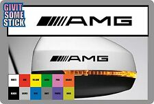 For MERCEDES   ////AMG logo - 2 x Wing Side Mirror -  Vinyl Decals Stickers