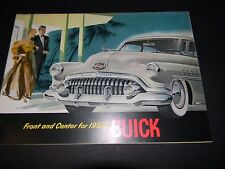 "1952  Buick Dealer Original Sales Brochure "" Front and Center for 1952 """
