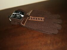 """Gloves With Belt""""Manica"""" Men Brown Keep Your Hands Warm Functional New With Tags"""