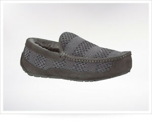 UGG Men's Ascot Weave Slippers Gray Size US 17 Fast Shipping