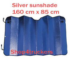 Large sunshade 160 x 85 cm silver reflective sunshade double van motorhome