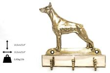 Doberman pincher - brass hanger with image of a dog, high quality Art Dog USA
