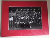 MANCHESTER UNITED SIGNED MOUNTED SIGNED PHOTOGRAPH x 12 SIGNED 1968 European