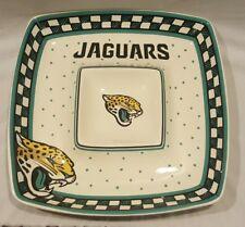 NEW THE MEMORY COMPANY JAGUARS NFL FOOTBALL GAMEDAY CERAMIC CHIP & DIP PLATE