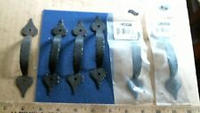 6 Black Hammered Copper (style) painted steel cabinet door pulls matching
