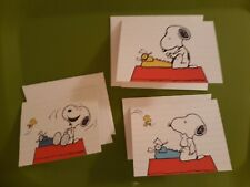 â�Cute! 3 Peanuts Snoopy Typewriter Blank Note Greeting Cards/Env â�New Current