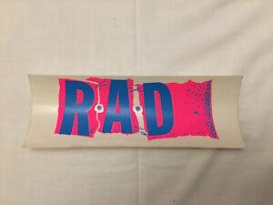 Vintage NOS Skateboarding Sticker 80's RAD Magazine Very Rare