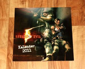 2011 Resident Evil 5 Capcom Very Rare Calendar Chris Redfield Sheva Alomar