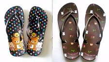 Wholesale 2 Pairs of Flip Flops Shoes Sandals for Big Kids Girls Teens Size 4