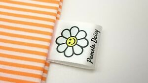 25mm Full Colour Bespoke Personalised Clothing Garment Loop Labels Sew In Crafts