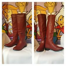 """FINAL PRICE DROP! Burgundy Red Wine Over The Knee 15"""" Calf Zippered Boots Size 9"""