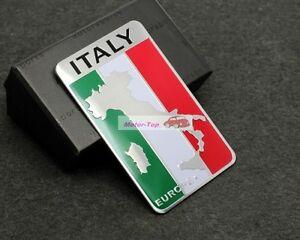 Italy IT Land Flag Rear Emblem Badge Motor Decals Sticker Car Fiat Alfa Romeo