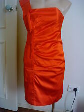 Womens MARTINI  Burnt orange  Formal  Cocktail Dress Size 10