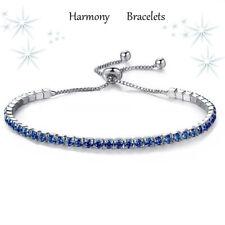 Dainty Blue Swarovski Elements Crystal Bracelet by Harmony Bracelets