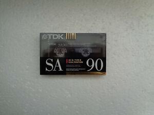 Vintage Audio Cassette TDK SA 90 * Rare Europe Model 1990 *