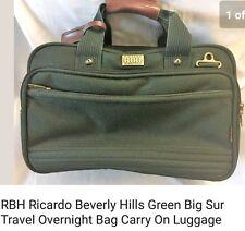 RICARDO BEVERLY HILLS OVERNITE/TOTE BAG. MEDIUM SIZE  GREEN