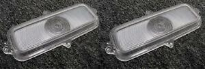 1960-1966 Chevy Pickup Truck Clear Parking Lamp Lenses PAIR Parking Light