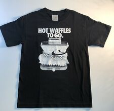 Vintage Nike Hot Waffles To Go T Shirt Size Small Tee Black Grey Label Sacai LD