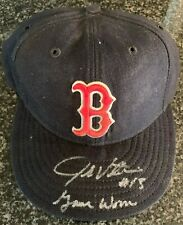 1990's John Valentin Autographed & Inscribed Game Worn Boston Red Sox Hat
