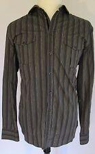 Pronto Uomo Blu Button-Up Cotton Shirt L NWT