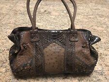 Carlos Falchi Ostrich Snakeskin Bag